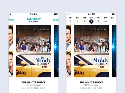 My TV Schedule - TV Shows App ios app retina ios 7 flat tv shows schedule calendar
