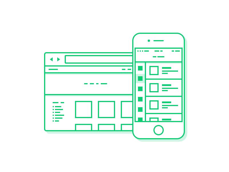 Interface Design - Illustration icon design icon illustration stroke iphone ios web design ui design ui user interface