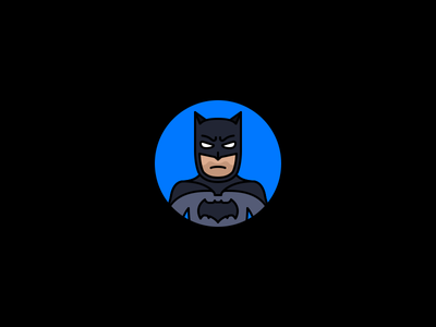 Batman tdk batfleck the dark knight batman dccu comics dc stroke illustration icon flat