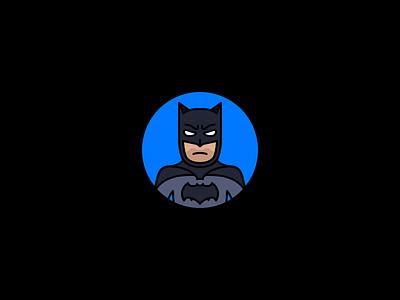 Batman tdk batfleck the dark knight batman dccu comics dc stroke illustration icon flat