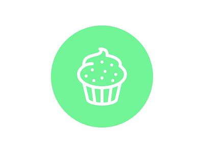 Cupcake Icon minimal flat cake cupcake stroke icon stroke icon