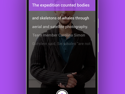 Onboarding - Reporter.vu walkthrough onboarding reporter app android application ui ux material settings homepage teleprompter