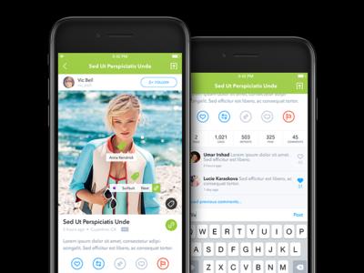 Post View - Tagillion iOS App share ui interface design application post view post tagillion appdesign ios