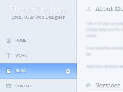 Portfolio Sidebar - 1 portfolio webdesign light ui web icons galaxicons sidebar
