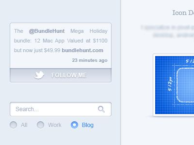 Portfolio Sidebar - 2 portfolio webdesign light ui web icons galaxicons sidebar search twitter