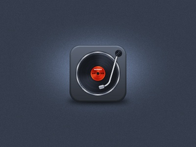 Turntable iOS Icon turntable vinyl disc icon ios iphone ipad 114px