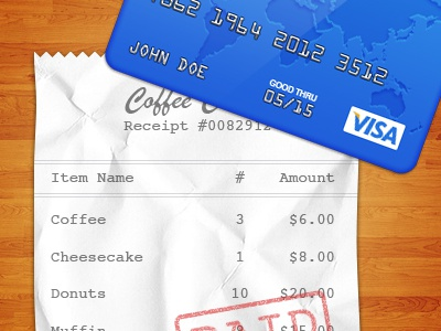 Receipt + Credit Card Icon ios iphone ipad icon 512px receipt credit card wood
