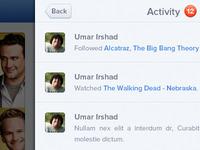Activity - iOS App