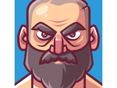 Bald Bearded Warrior beard bald-headed bald male character male pirate character illustration character design character adobe illustrator digital painting digital art vector vector artist vector art vector illustration vector illustrator digital illustration illustrator illustration
