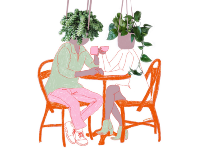 3 favourite things: coffee, plants and company.