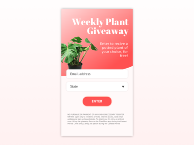 Daily UI 001 // Giveaway Signup Form