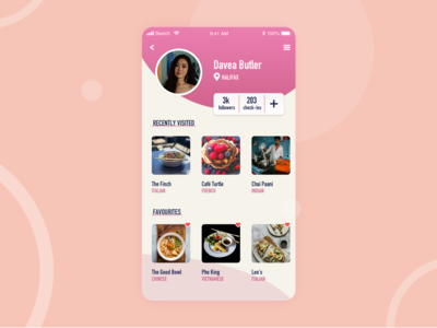 Daily UI 006 // Food app profile