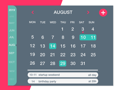 Calendary - Daily Challenge daily challange ui design