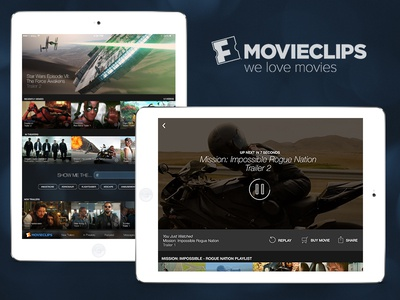Movieclips for iPad