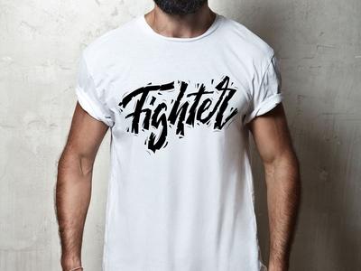 Fighter-lettering print