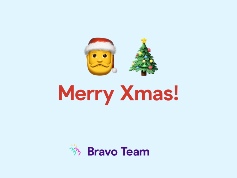 Merry Xmas from Bravo Team! santa android ios merrychristmas xmas madewithbravo bravo bravostudio design prototype native app mobile figma ux ui