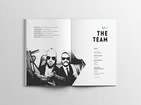 Editorial Design for MAX THE SAX, Presskit 2016