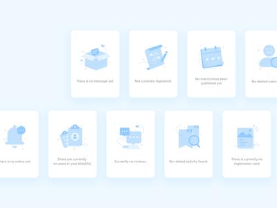 Empty page empty icon blue app simple illustration clean design ui