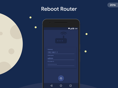 Reboot Router login ui router material design app android