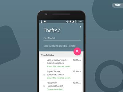 TheftAZ ux ui material design app android