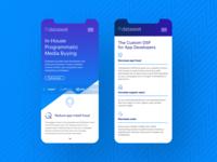 Mobile UI web mock up
