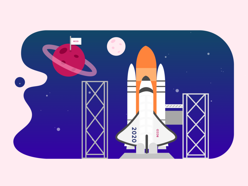 Rocket Vector illustration for Website web takeoff launch planets night purple vector graphic illustration rocket space