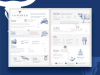 Menu design - The Cowshed