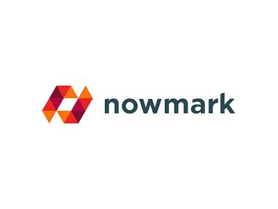 NowMark redesigned design branding logo
