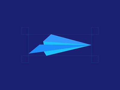 Paper Plane design branding icon logo