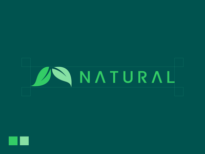 Natural design branding icon logo