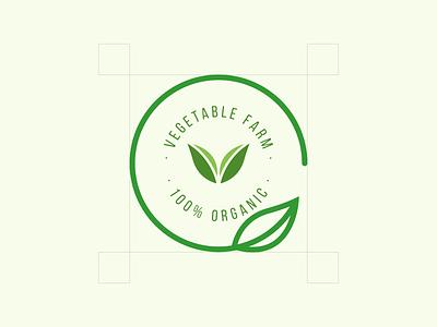 Vegetable farm vector branding icon logo