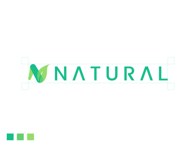 Natural design branding logo icon