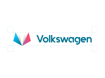 Volkswagen Redesigned design branding logo icon