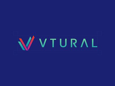 VTURAL design branding icon logo