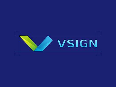 Vsign design branding icon logo