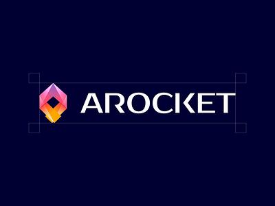 Arocket branding design icon logo