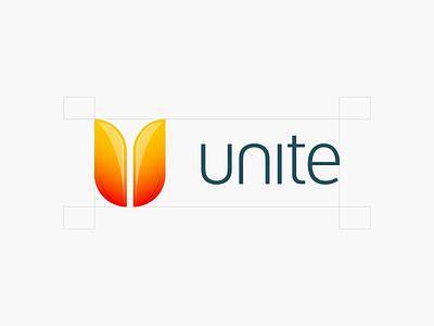 Unite design branding icon logo