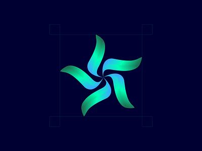 Flower design branding logo icon