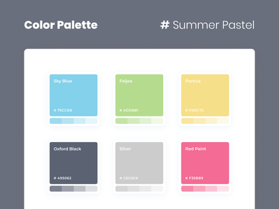 Nursery Brand Palette school business ui ux minimalism minimal blue yellow red colors layout logo branding palette