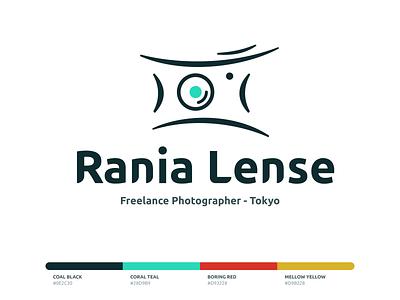Rania Lense Logo japan type typography palette minimal ux ui app mobile web design illustration camera brand branding logo