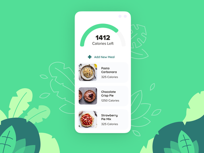 Food App Concept ux brand task food green clean white mobile app logo design branding minimalism minimal