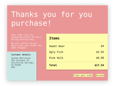 Email Receipt. Daily UI #017