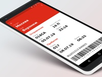 Ticket. Part Two. Daily UI Challenge #024