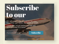 Subscribe. Daily UI Challenge #026