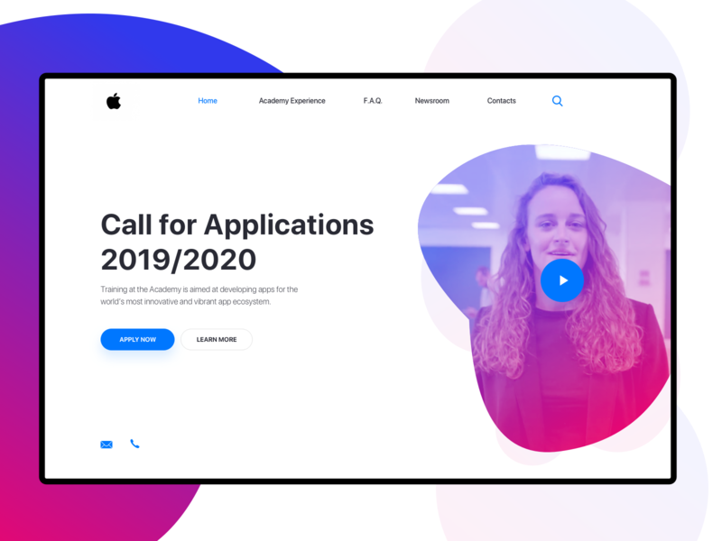 Apple Developer Academy Landing Page - Daily UI 003 ux typography ui illustration graphicdesign code design brand developer academy apple product landingpagedesign landingpage dailyuichallenge dailyui 003 dailyui portfolio