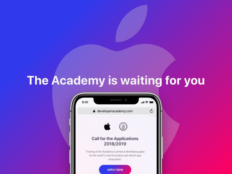 Apple Developer Academy Landing Project Cover ios mac website iphone tech brandidentity brand design vector visual sketch color uxui ux ui mobile apple redesign portfolio project brand
