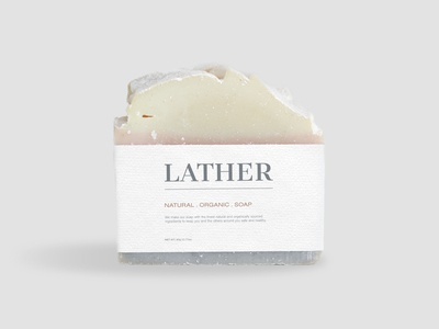 Lather soap label - Dribbble Weekly Warmup