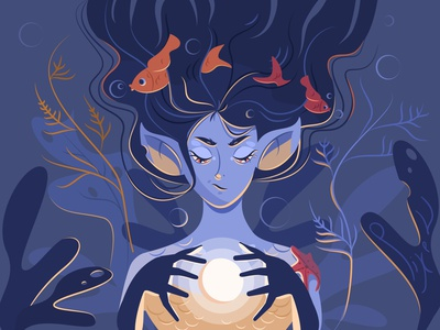 Eris goddess of chaos ocean mermaid