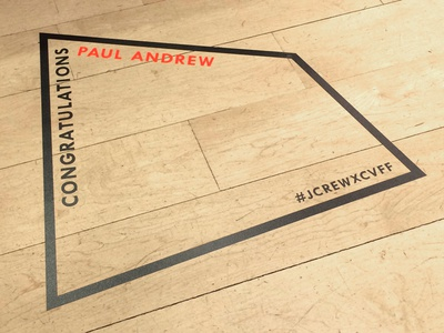 J.Crew x CFDA Floor Decal
