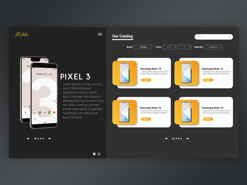 Mobile Shop webshop website adobexd modern webdesign